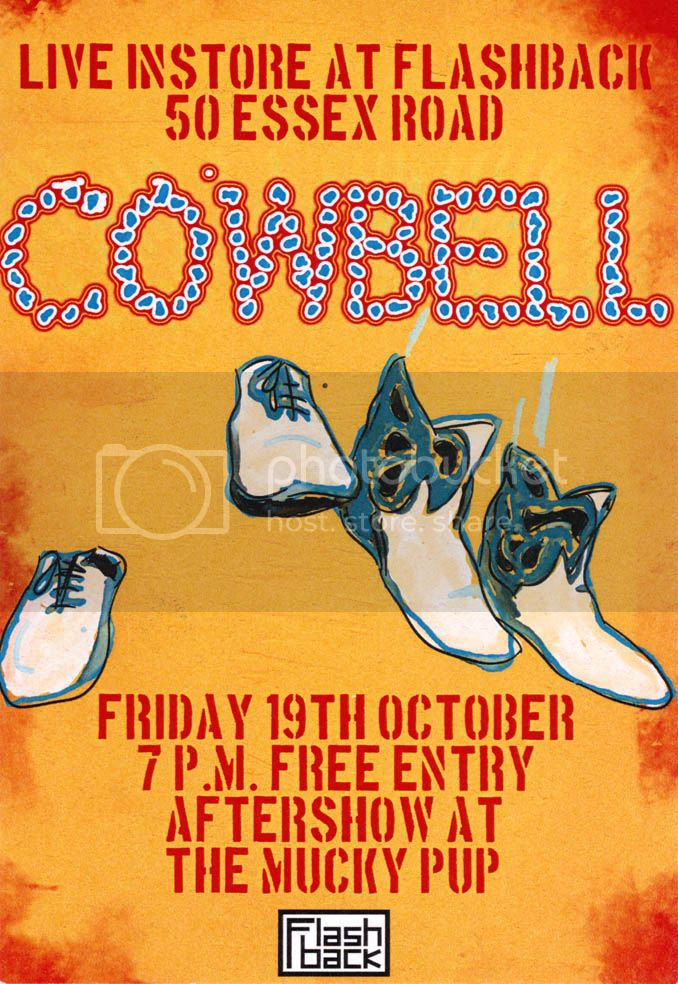 Cowbell Flashback instore flyer