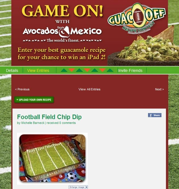 Guac Off Football Field Dip Entry